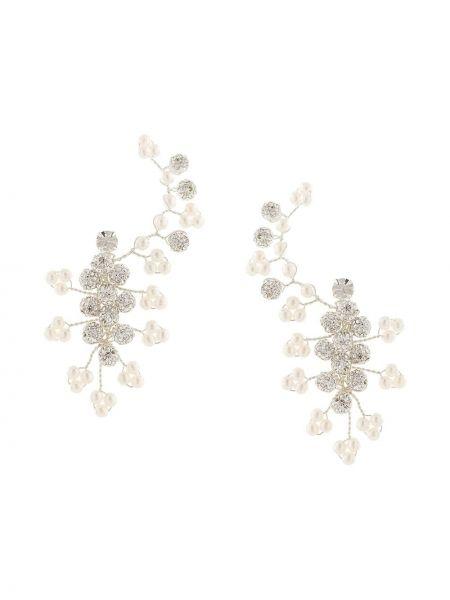 Białe kolczyki sztyfty perły srebrne Magda Butrym