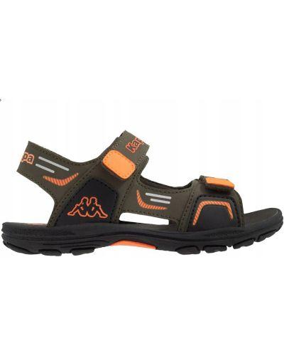 Zielone sandały na rzepy sportowe Kappa