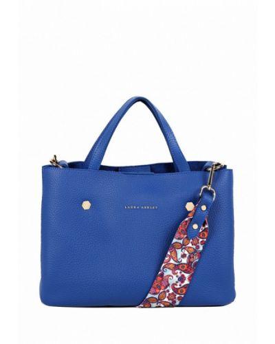 Кожаная сумка турецкая синий Laura Ashley