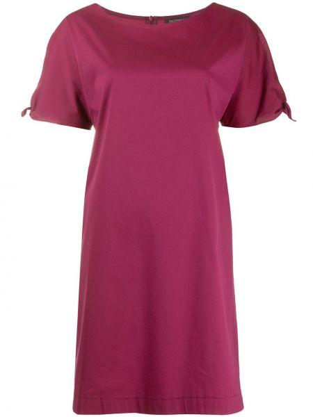 Платье мини красный с рукавами Antonelli