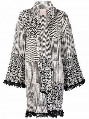Пальто из альпаки - черное Twinset