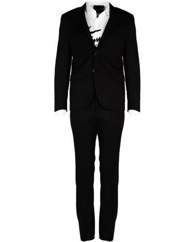 Czarny garnitur John Richmond
