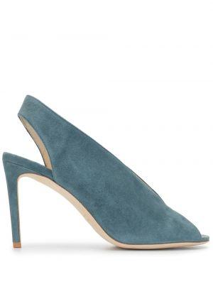 Туфли-лодочки с открытым носком на шпильке Luisa Beccaria