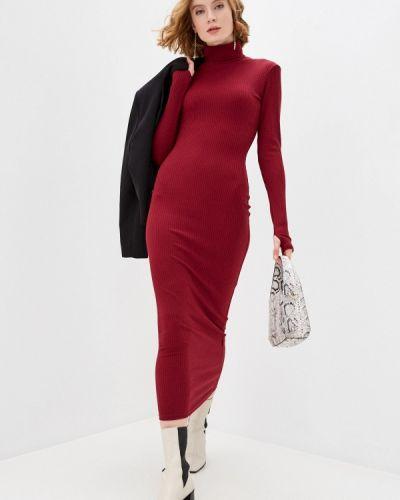 Трикотажное красное вязаное платье Trendyangel