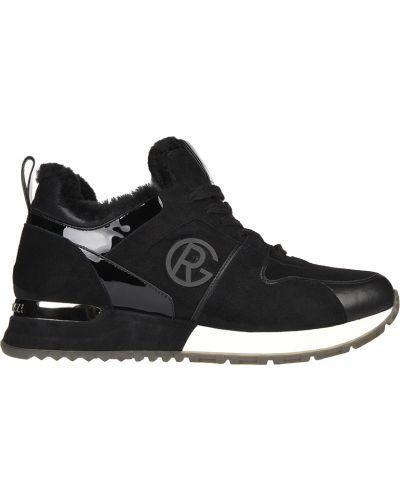 Кроссовки замшевые черные Gianni Renzi