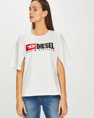 Футболка белая свободная Diesel