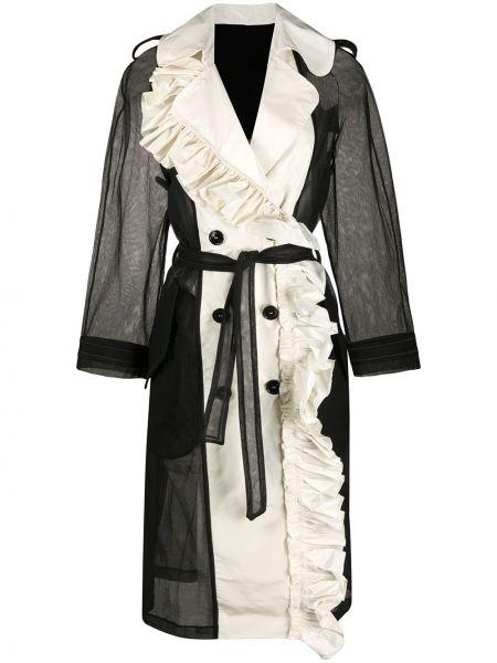 С рукавами длинное пальто двубортное с воротником Viktor & Rolf