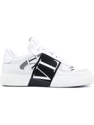 Кожаные кроссовки - белые Valentino Garavani