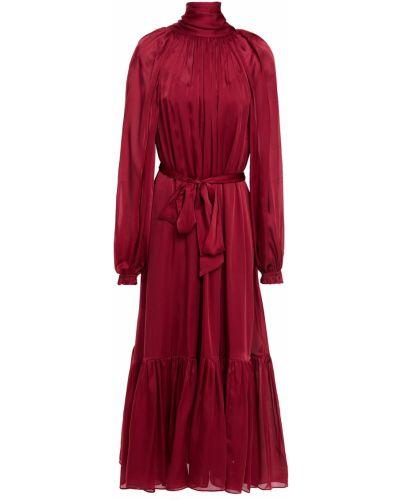 Шелковое платье миди с манжетами Zimmermann