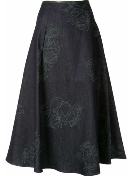 Прямая юбка со складками Anteprima