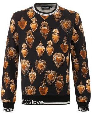 Свитшот с узором из плотной ткани Dolce & Gabbana