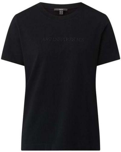 Czarna t-shirt bawełniana Esprit Collection