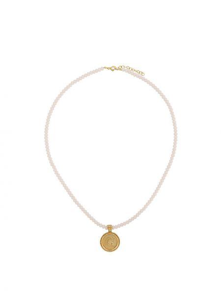 Różowy złoty naszyjnik pozłacany Hermina Athens