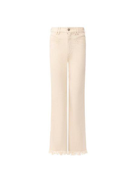 Хлопковые бежевые джинсы Isabel Marant