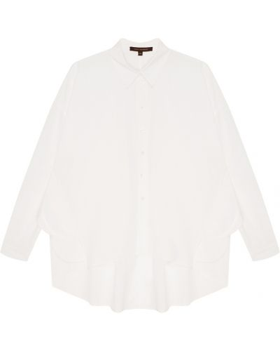 Асимметричная белая блузка с воротником Adolfo Dominguez