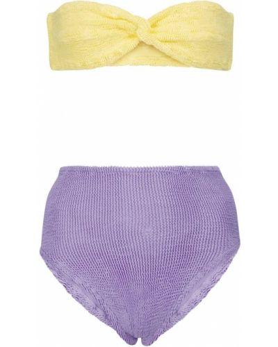 Нейлоновые желтые мягкие бикини Hunza G
