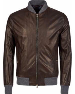Кожаная куртка - коричневая Barba Napoli
