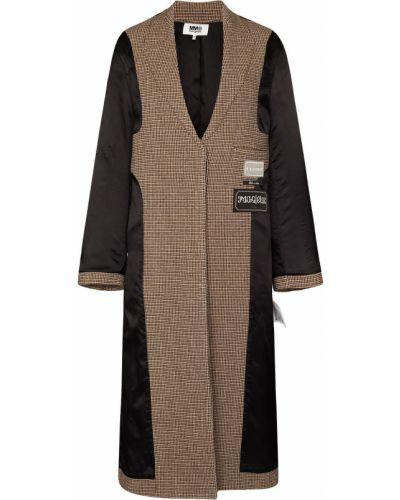 Шерстяное пальто - коричневое Mm6 Maison Margiela