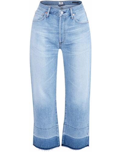 Широкие джинсы классические с эффектом потертости Citizens Of Humanity