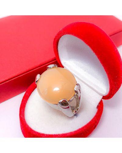 Кольцо с кварцем - белое Soroka-vorona