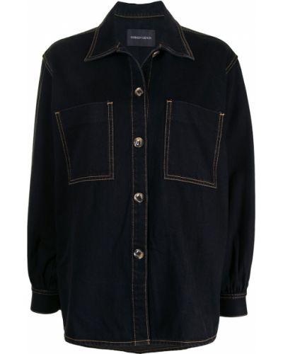 Хлопковая синяя джинсовая куртка с воротником Nobody Denim