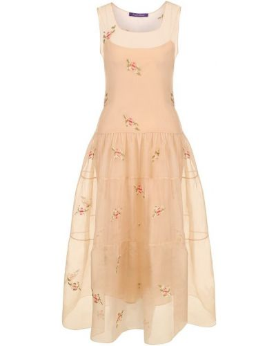 Платье миди с цветочным принтом приталенное Ralph Lauren