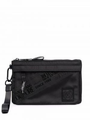 Torebka z printem - czarna Versace Jeans Couture