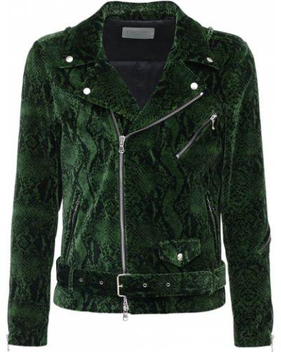 Zielona kurtka z paskiem bawełniana Route Des Garden