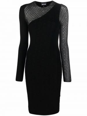 Платье макси с длинными рукавами - черное Just Cavalli