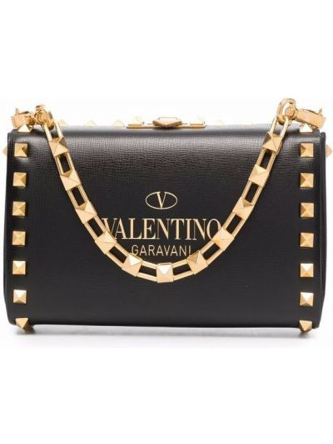Czarna złota torebka Valentino Garavani