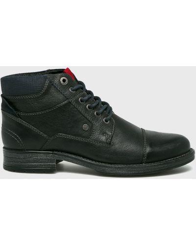 Кожаные ботинки высокие повседневные S.oliver