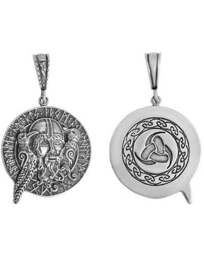 Серебряный медальон с подвесками с декоративной отделкой F.it