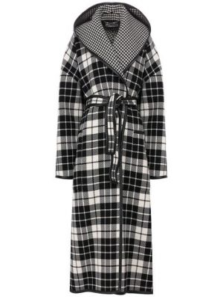 Пальто с капюшоном длинное с запахом Balenciaga