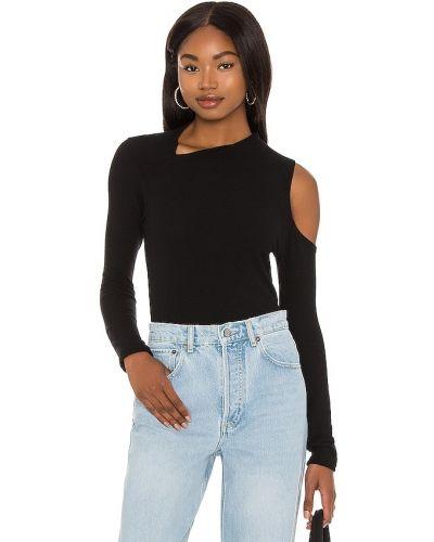 Асимметричный кашемировый черный свитер Lna