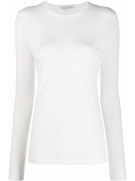 Белая футболка длинная Stefano Mortari