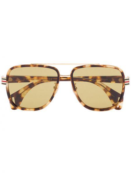 Okulary przeciwsłoneczne żółty przeoczenie Gucci Eyewear