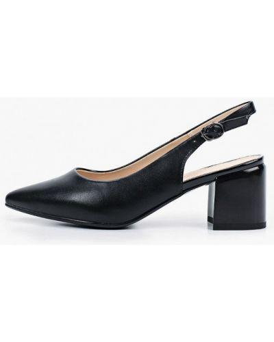 Черные кожаные туфли с открытой пяткой Francesco Donni