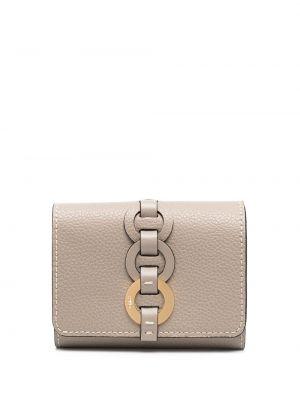 Skórzany portfel na monety z kieszeniami z gniazdem Chloe