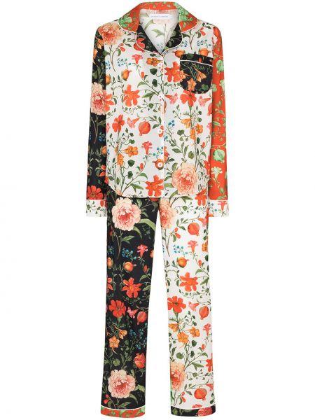 Piżama dwuczęściowa - pomarańczowa Desmond & Dempsey