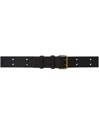 Кожаный черный ремень с пряжкой с поясом A.p.c.