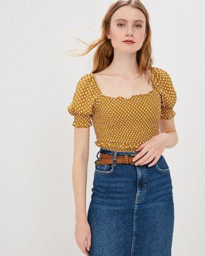 Блузка с коротким рукавом желтый весенний River Island