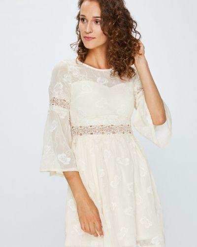 Платье мини с рукавами с вышивкой Answear