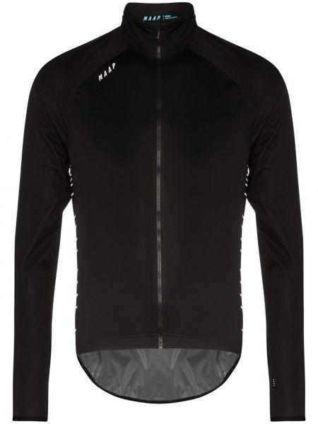 Черная спортивная куртка с рукавом реглан на молнии с воротником Maap
