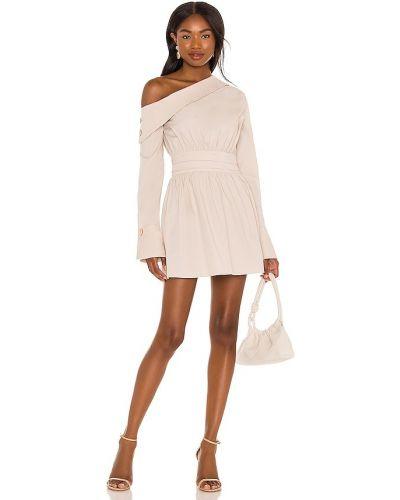 Beżowa sukienka mini bawełniana Camila Coelho