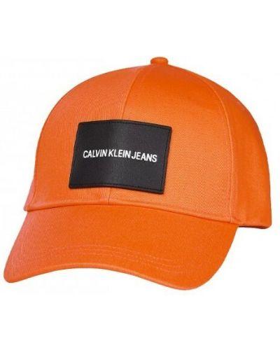 Pomarańczowa czapka Calvin Klein Jeans