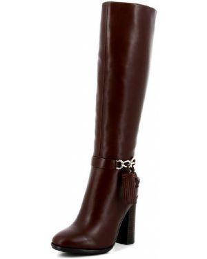Рыжие зимние ботинки на молнии из натуральной кожи Paolo Conte