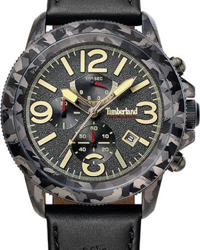Часы водонепроницаемые с кожаным ремешком темный Timberland