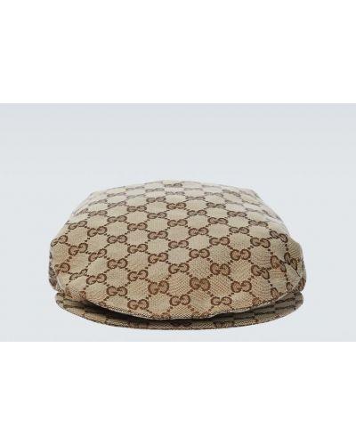 Brązowa kaszkiet bawełniana Gucci