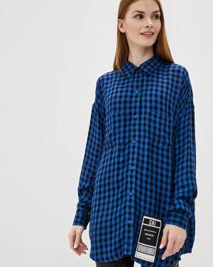 Блузка с длинным рукавом синяя Sh