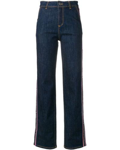 Широкие джинсы на пуговицах с карманами Frankie Morello
